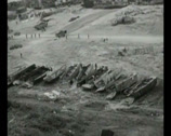 Stock Video Footage of WW2 - 1944 - Operation Overlord D-Day - Beachhead Overview 06