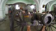 Stock Video Footage of Ancient gun, firing cores
