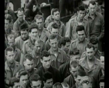 WW2 -1944 - Operation Overlord D-Day - Church Service On Ship 01 Stock Footage