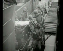 WW2 - 1944 - Operation Overlord D-Day - Medical 02 Stock Footage