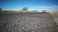 Highway Road Truck Coming - stock footage