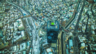Stock Video Footage of HD aerial time lapse of Tokyo and it's busy trains and traffic