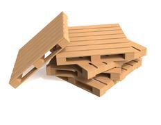 Wooden shipping pallet Stock Illustration