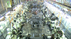 Technology of Automobile Factory, Robots in Factory Stock Footage