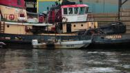 Stock Video Footage of industrial tug boats