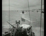 Stock Video Footage of WW2 - 1944 - Operation Overlord D-Day - US Invasion Army Crossing Channel 04