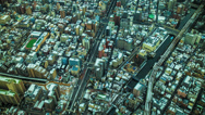 Stock Video Footage of Time lapse looking down on downtown Tokyo