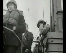 WW2 - 1944 - Operation Overlord D-Day - US soldiers Attacking Beaches 07 Stock Footage