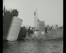 WW2 - 1944 - Operation Overlord D-Day - Vehicles Deployment On Beach 01 Stock Footage