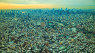 Stock Video Footage of HD time lapse of the Tokyo cityscape skyline at dusk