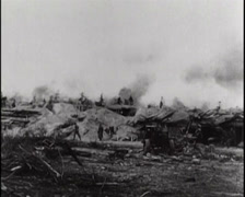 WW2 - Battle Leningrad Outskirts 01 Stock Footage