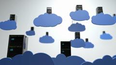 Cloud Servers 10 DOF h264 Stock Footage