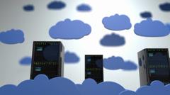 Cloud Servers 13 DOF h264 Stock Footage