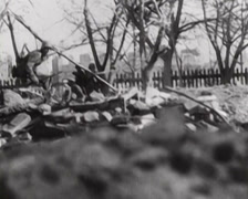 WW2 - Battle Of Stalingrad - The Beginning 04 Stock Footage