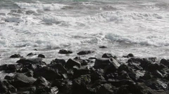 Rough sea in bad condition Stock Footage