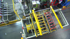 Production Line in Automotive Factory - stock footage