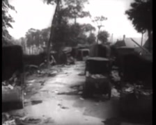 WW2 - War Damage - Destroyed Units 01 Stock Footage
