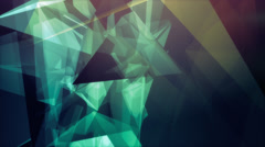 VJ Loop - Mesmerizing multicolored polygonal shapes in rotating motion Stock Footage