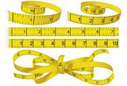 Stock Illustration of measuring tapes knot and rolls