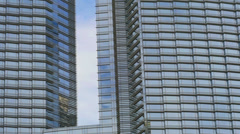 Las Vegas Buildings at City Center with Glass and Steel Facades Stock Footage