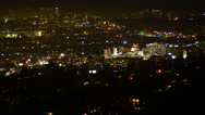 Stock Video Footage of 4K Los Angeles Night View 22 Timelapse Hollywood UHD