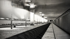 4K Berlin Wall 12 vintage Stock Footage