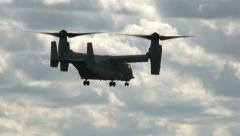 Bell Boeing V-22 Osprey Display Stock Footage