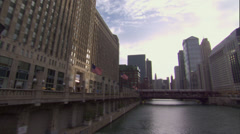 CHI MerchandiseMart river tiltup Stock Footage