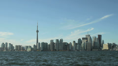 Day to night time lapse of the Toronto Skyline Stock Footage