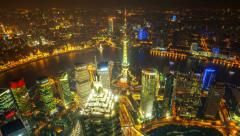 "China Shanghai, day to night (zoom in).>>>Please search: ""ShanghaiSkyline"" - stock footage"