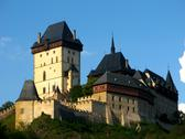 Stock Photo of gothic karlstejn castle near prague, czech republic