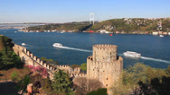 Stock Video Footage of Istanbul from the Rumeli Hisari Fortress