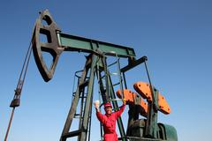 Oil Worker Well Paid Job Stock Photos