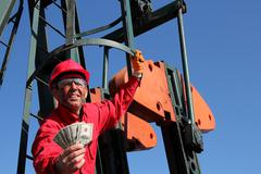 Smiling Oil Worker Stock Photos