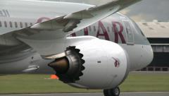 Qatar Airways Boeing 787 Dreamliner Taxi Stock Footage