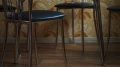 Chairs and table Stock Footage