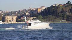 Yacht speeding up Stock Footage