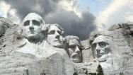 Stock Video Footage of Mount Rushmore Timelapse 1