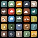 Stock Illustration of weather flat icons with long shadow