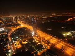 4K Timelapse Dubai Panorama Stock Footage