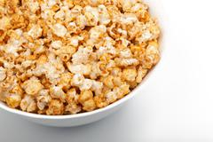 Big Bowl Of Popcorn - stock photo