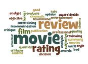 Stock Illustration of movie review word cloud