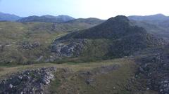 Aerial corsica mountain cuscione Stock Footage