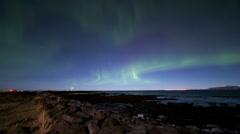 Northern lights tourists Stock Footage