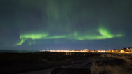 Stock Video Footage of Northern lights over Reykjavik