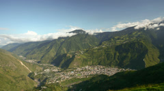 The tourist destination town of Banos in the Pastaza Valley, Ecuador - stock footage