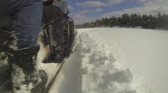 Lake Winter - Snowmobile 03 Stock Footage