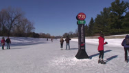 Stock Video Footage of Skaters on the Rideau Canal. #06