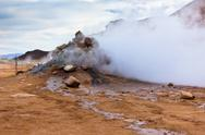 Stock Photo of geothermal area hverir, iceland