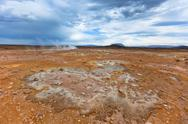 Stock Photo of stone desert at geothermal area hverir, iceland